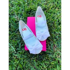 GB Girls flat shoes with cute bow infront